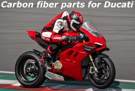 Carbon fiber parts for Ducati