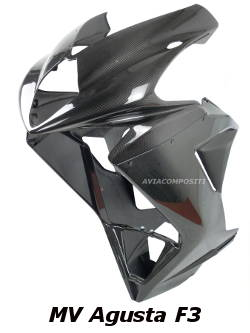 Carbon fiber fairing for MV Agusta F3